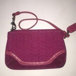 FREE w/ purchase COACH pink or fuchsia wristlet
